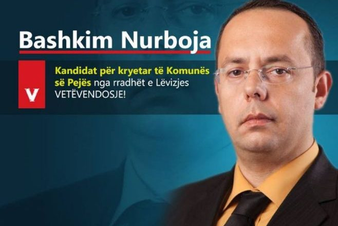 Vetëvendosje zyrtarizon kandidatin për kryetar të Pejës