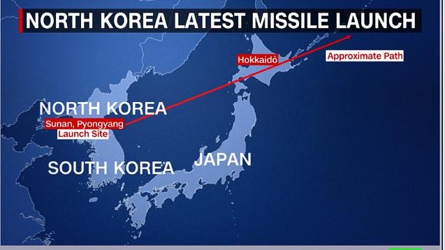 Koreja e Veriut lëshon një raketë drejt Japonisë