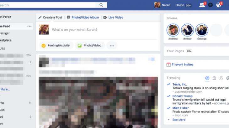 Facebook fillon testimin e historive në desktop