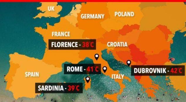 """""""Luciferi"""" shkakton viktima në Evropë, disa vende me alarm të kuq"""