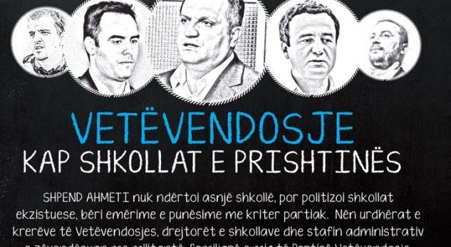 PDK: Ahmeti politizoi deri më themel shkollat në Prishtinë