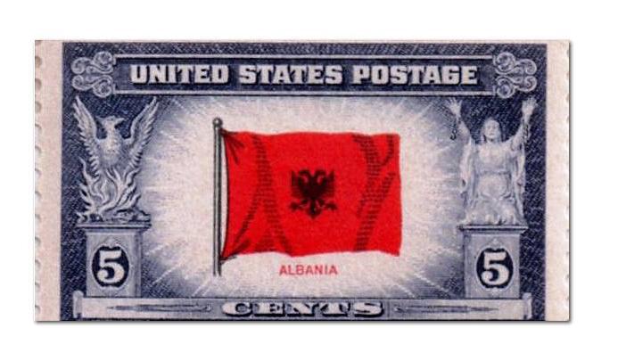Pulla postare amerikane me flamurin shqiptar