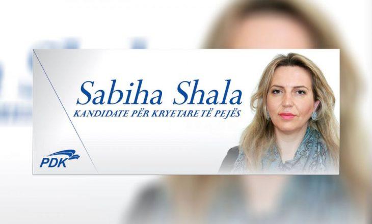 PDK nominon Sabiha Shalen për kryetare të Pejës