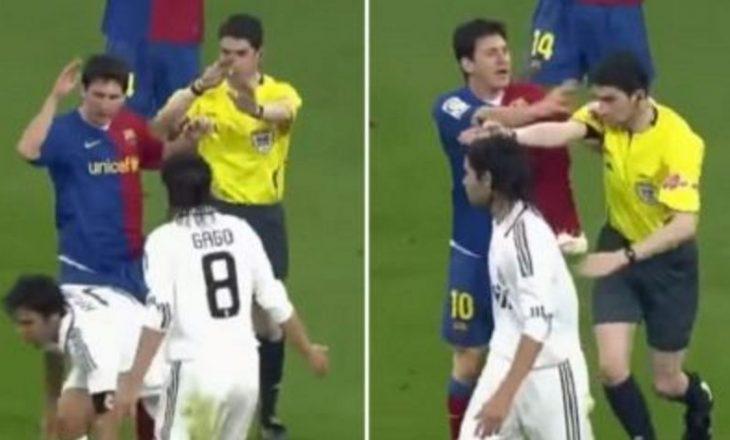 """VIDEO: Messi nuk ishte ndëshkuar për shtyrjen e gjyqtarit në """"El Clasico"""""""