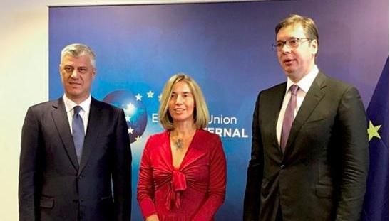 Mogherini takon këtë javë Thaçin dhe Vuçiqin