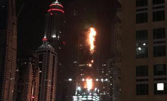 Ndërtesa 79 katëshe në Dubai përfshihet nga flakët – qindra banorë të rrezikuar