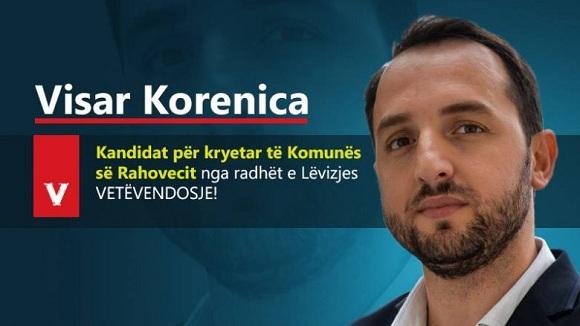 Visar Korenica, kandidat i VV-së për Rahovec
