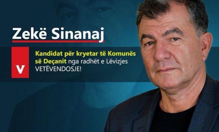 """Zyrtare: Ish-redaktori në televizionin e """"regjimit"""" kandidat i VV-së për kryetar të Deçanit"""