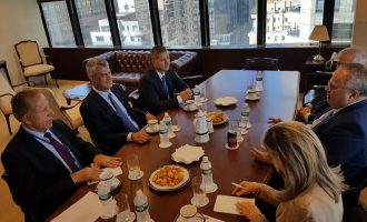 Presidenti Thaçi falënderon për përkrahje kryediplomatin e Greqisë