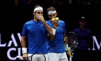 Dikur rival – Federer dhe Nadal për herë të parë luajnë së bashku