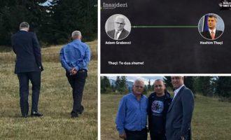 """""""Të dua shumë"""" – miqësia Thaçi-Grabovci vazhdon në Bjeshkët e Rugovës"""