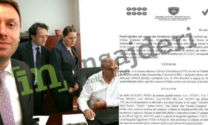 LDK në Prishtinë dënohet me mijëra euro – shpërfillet urdhri i Mustafës