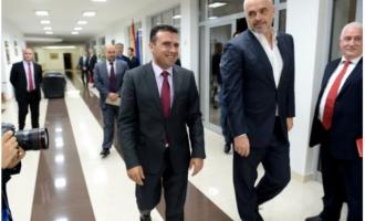 Rama në Maqedoni, pritet nga homologu i tij Zoran Zaev