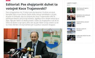Një portal shqip bën thirrje që të votohet kandidati i VMRO-së për kryetar të Shkupit