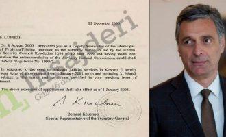 Vendimi i ish-shefit të UNMIK-ut që e bëri Lumezin prokuror për herë të parë