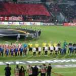 Ish-presidenti i FC Barcelonës ndjek nga afër ndeshjen e Skënderbeut