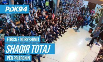 Totaj: Përkrahja për Prizrenin po vjen edhe jashtë PDK-së