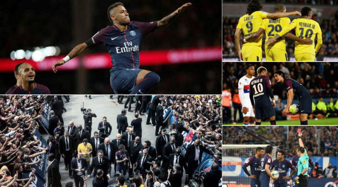 100 ditët e para të Neymarit në PSG – 11 gola, një karton i kuq dhe një përleshje