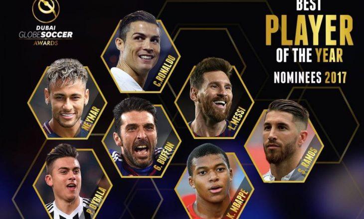 """""""Globe Soccer Awards"""": Zbulohen shtatë kandidatët për më të mirin e vitit 2017"""