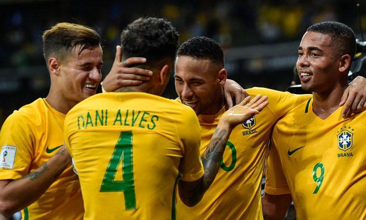 Formacionet zyrtare: Angli – Brazil