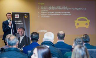 Abrashi prezantoi 320 projekte që do t'i zbatojë në katër vite e ardhshme