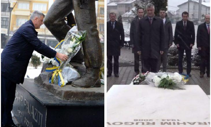 Thaçi nuk e pret presidentin shqiptar, nderon vetë Zahir Pajazitin e Ibrahim Rugovën