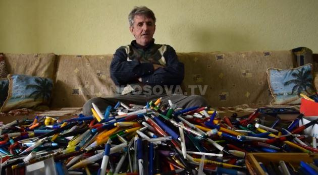 """Mbi 5 mijë – kosovari që i ndërron stilolapsat """"si të ishin çorape"""""""