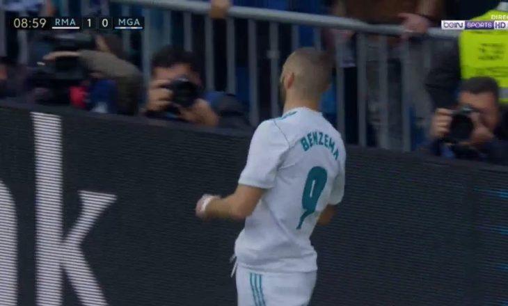 Benzema e kalon në epërsi Real Madridin [Video]