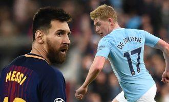Messi dhe De Bruyne në formacionin e sezonit, nuk ka vend për Ronaldon (Foto)