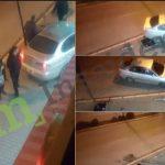 Ikje nga vendi i aksidentit – pasi gati hyjn në trotuar me veturë duke rrezikuar këmbësorët