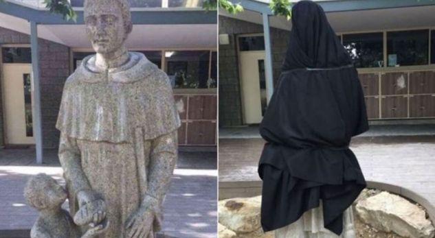 Statuja e shenjtorit trondit komunitetin, detaji që u interpretua si ngacmim seksual