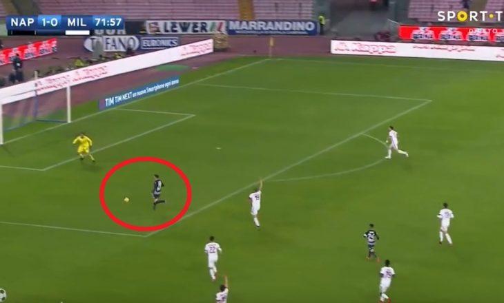 Shënohet goli i dytë në takimin Napoli – Milan [Video]