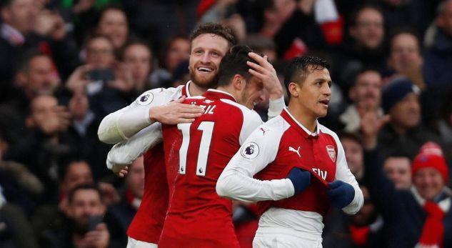 Shkodran Mustafi shënon gol për fitoren e Arsenalit kundër Tottenhamit