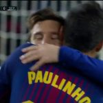 Barcelona shkon në pushim me epërsinë e dy golave [Video]