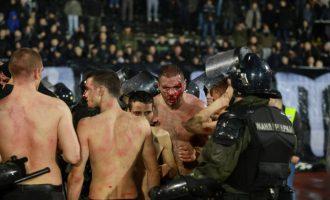 Përleshje e përgjakshme masive në Beograd [Video]