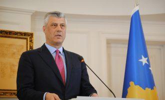 """Thaçi fton deputetët ta votojnë demarkacionin, """"pavarësisht taktikave të rrezikshme të kundërshtarëve të liberalizimit të vizave"""""""