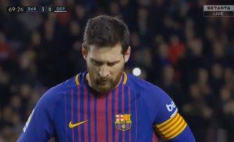 Penallti për Barcelonën – dështon Leo Messi [Video]