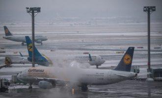 Ngrica dhe borë, kaos në gjithë Gjermaninë