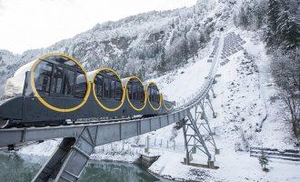 Zvicër, përurohet treni me trasenë më të pjerrët në botë