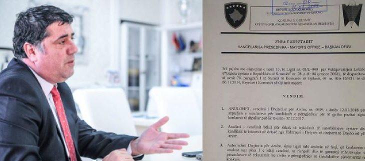 Haziri anulon konkursin e Drejtorisë së Arsimit në Gjilan, shkilte ligjin