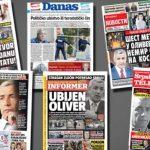 """""""Gjashtë plumba për Oliverin"""": ballinat e gazetave serbe për vrasjen e Ivanoviqit"""
