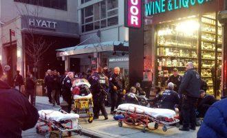 Të shtëna në Manhattan, ka viktima