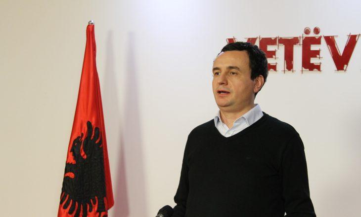 Albin Kurti kërkon shkarkimin e Dhurata Hoxhës
