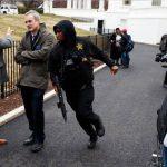Barrikada në hyrje të Shtëpisë së Bardhë