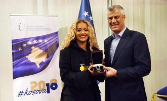 Thaçi dekoron Rita Orën me Medalje Presidenciale