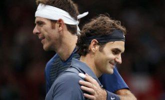 Roger Federer ndalet në 17 fitore, nga Juan Martin Del Potro