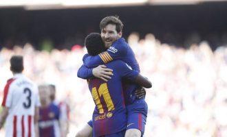 I pandalshmi Messi shkëlqeu sërish në fitoren e Barcelonës [Video]