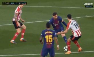 Momenti kur Messi i përfundoi karrierën lojtarit të Bilbaos [Video]