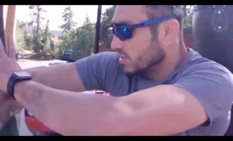 Godet shufrat e hekurit dhe godet veten me to [Video]