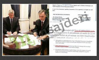 Manipulimi i Thaçit me demarkacion – Si e shiti si zotim të ri nenin e marrëveshjes 2015